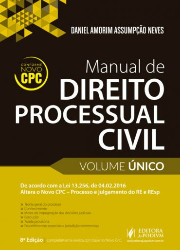 Manual de Direito Processual Civil - Daniel Neves